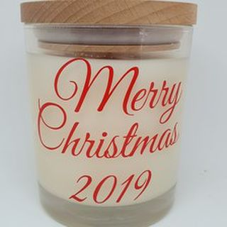 Merry Christmas - Large Candle
