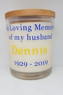 Memorial Messages - Large Candle