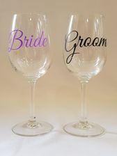 Bride/Groom Wine Glasses