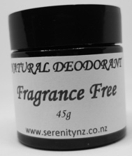 Fragrance Free Natural Deodorant