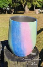 Pink, Green & Blue Wine Tumbler